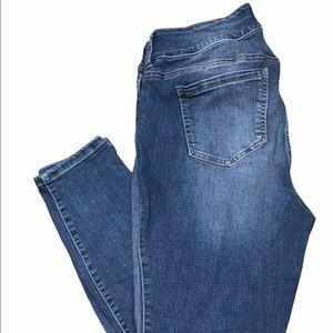 Torrid size 14S denim jegging distressed jeans